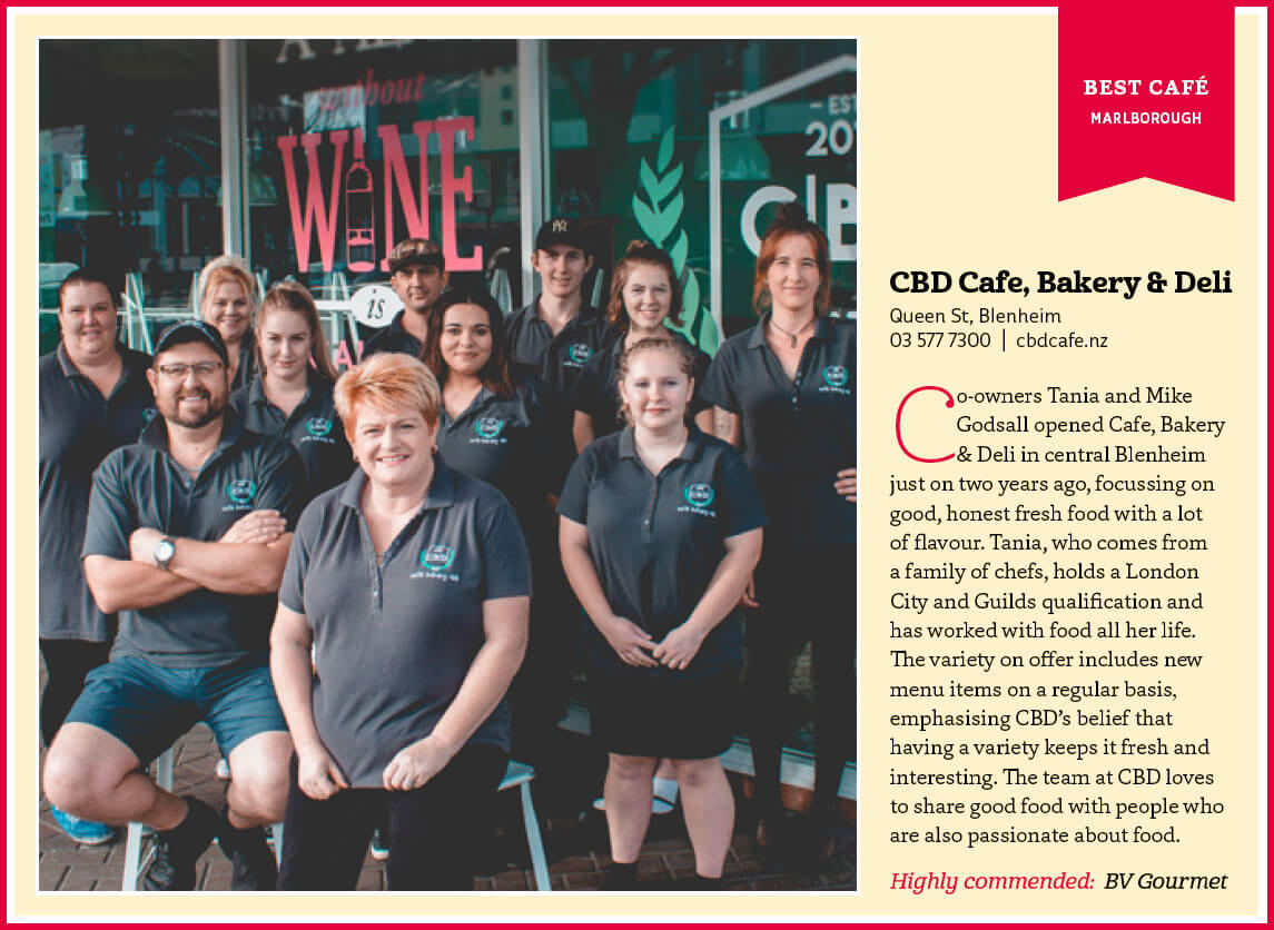 WildTomato Dine Out Award Received By CBD Cafe In Blenheim